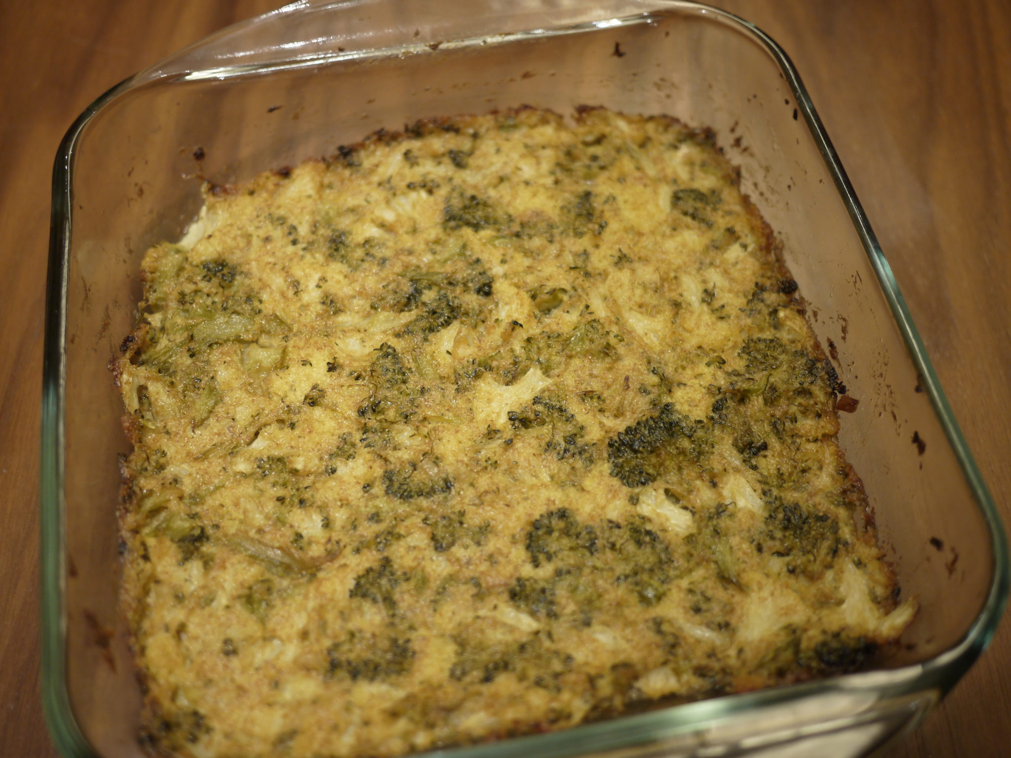 Cauliflower broccoli dairy-free casserole